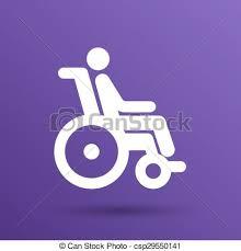 chaise handicap roue accessible handicap invalide handicapé chaise vecteur