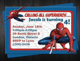 birthday invites amusing spiderman birthday invitations design