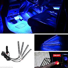 Neon Lights In Cars Interior Amazon Com Car Interior Lights Auto Parts Club 4pcs 12v Led Car