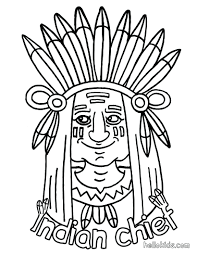 free printable indian coloring pages sheets for thanksgiving