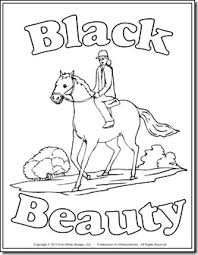 black beauty coloring pages coloring