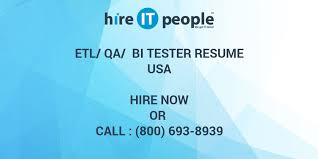 Etl Tester Resume Sample by Etl Qa Bi Tester Resume Hire It People We Get It Done