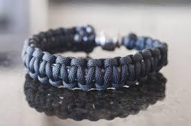 bracelet black images Pipe bracelet black paracord tokables jpg