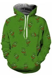 Frog Face Meme - funny meme frog face allover pattern long sleeves pullover hoodie
