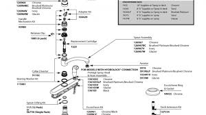 moen single handle kitchen faucet parts moen kitchen faucet parts diagram 7445 list and