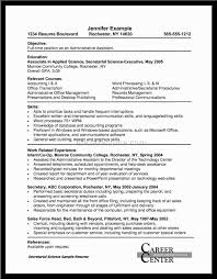 Administrative Assistant Example Resume Resume For Administrative Assistant Pdf Professional Resumes