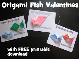 fish valentines diy on a dime origami fish card with free printable
