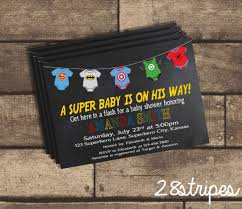 a superbaby is on his way enjoy a superhero themed baby shower