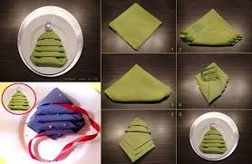 tree napkin folding tutorial diy cozy home
