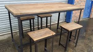 bar height table set rustic counter height table set decorative trend intended for bar