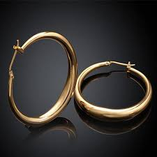 circle earrings hoop earrings yellow gold hoop earrings for women big loop
