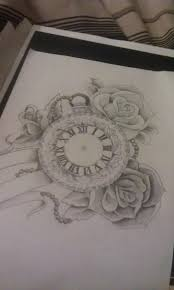 21 best tatouage images on pinterest drawings clock tattoos and
