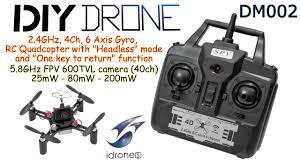 diy drone dm002 diy drone 2 4ghz 4ch 6 axis headless 5 8ghz fpv with