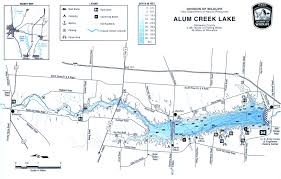 Map Ohio State by Alum Creek Fishing Map Central Ohio Gofishohio