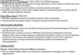 police detective resume detective cover letter narcotics and vice detective job