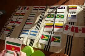 South America Flags Montessori Teachings South America Flag Work