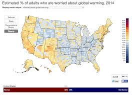 Yale Map Study Maps Public Opinion About Global Warming Across The U S