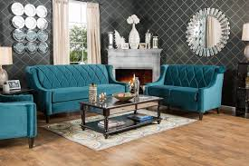 Living Room Chairs Teal Sm8140 Furniture Of America Brubeck Living Room Soft Teal Fiona