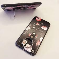 classic skeleton ring holder images Wholesale iphone 7 classic flower design ring holder case black jpg