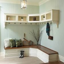 Shelf Floor L Interior Engaging Design Ideas Using Rectangular Brown Rattan