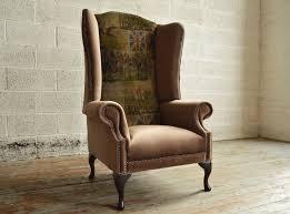 Chesterfield Sofa Sydney by Bespoke British Fox Hunting Printed Velvet High Back Chesterfield