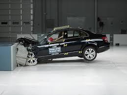 Mercedes C Class Coupe 2008 2008 Mercedes Benz C Class Moderate Overlap Iihs Crash Test Youtube