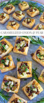 party appetizer caramelized onion u0026 pear tarts pizzazzerie