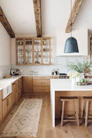 modern country kitchen with oak cabinets 67 inviting kitchen designs with exposed wooden beams digsdigs