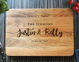 personalized wedding cutting board chopping board etsy