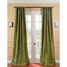 120 Inch Sheer White Curtains Overstock Com Fern Green Faux Silk Taffeta 120 Inch Curtain