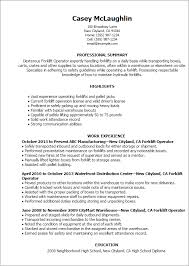 Ideal Resume For Someone With by Professional Forklift Operator Templates To Showcase Your Talent