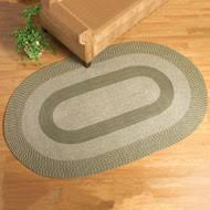 Braided Doormat Traditional Braided Area Rug From Collections Etc