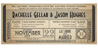 ticket wedding invitations vintage telegram ticket style wedding invitations wedding