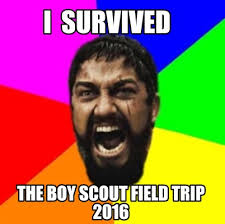 Boy Scout Memes - meme creator i survived the boy scout field trip 2016 meme