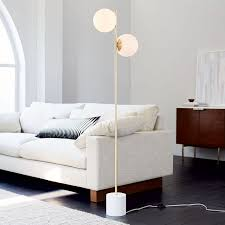 Sturdy Floor Lamp Sphere Stem Floor Lamp West Elm