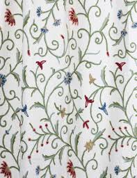 Cotton Curtains And Drapes Techmal Crewel Curtain Panels And Drapes Hand Embroidered Cotton