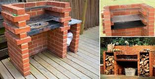 Creative Backyard Creative Ideas Diy Backyard Brick Barbecue I Creative Ideas