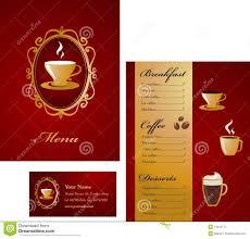 menu card templates card template