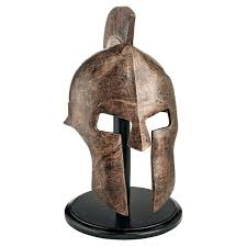 amazon com design toscano greek spartan helmet home u0026 kitchen