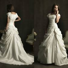 square neckline chapel train pleat plus size wedding gowns short
