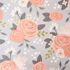 Flower Design For Scrapbook Gold U0026 Peach Flowers Scrapbook Paper By Recollections
