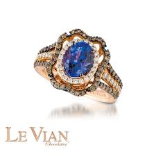 levian engagement rings le vian blueberry tanzanite ring in 14k strawberry gold 7 8ctw