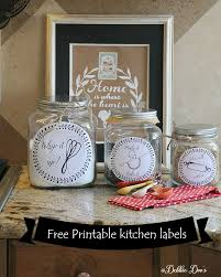 Canisters For The Kitchen Free Kitchen Printable Labels For Canisters Or More Debbiedoos