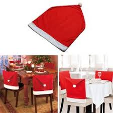Santa Chair Covers Christmas Dining Chair Covers Accessories Santa Hat Xmas Party