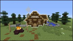 minecraft tutorial how to make a log cabin youtube