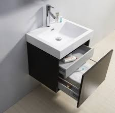 floating white tone sink combined chrome metal shower sets in