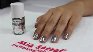 how to chrome mirror nails by mia secret technique nails magazine