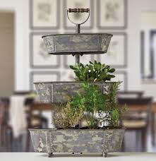 the painted porch co metal bucket 3 tiered tray