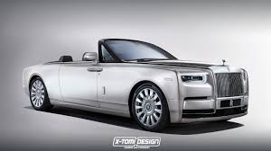 roll royce drophead rolls royce phantom drophead coupe rendering spurs imagination
