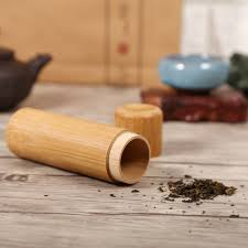 Kitchen Utensil Canister Kitchen Tea Bamboo Tube Coffee Sugar Storage Canisters Jar Round